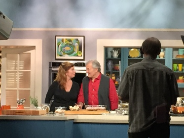 Jacques and Claudine on the set