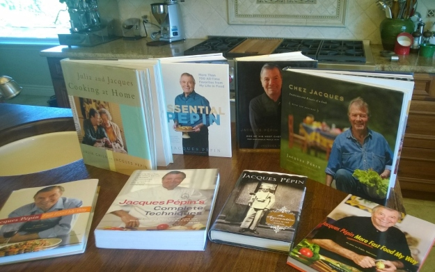 Our Jacques Pepin library