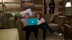 Karen and Kelsey proofreading a paper