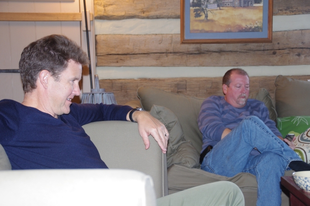 Tim and I watching the Iron Bowl