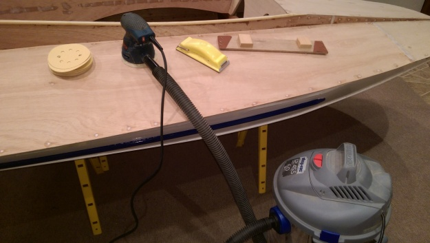 Sanding tools, complete with high-tech shop-vac dust collection