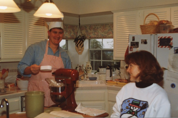 Cooking together has always been a favorite pastime. Making something around 1989, or so