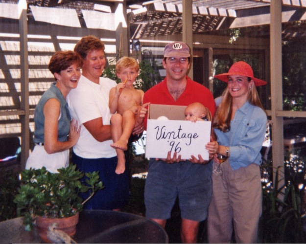 Time flies, and all the photos are of the kids, not the parents. Here we are again, finally, in September 1996