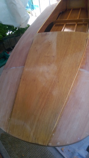 Four coats of varnish on the cowl