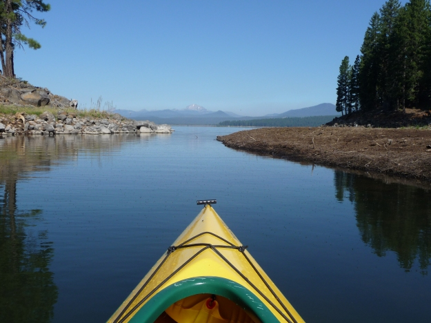 Lake Almanor, from a kayak's point of view.