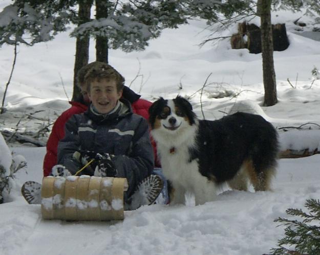 Winter provides epic toboggan runs!