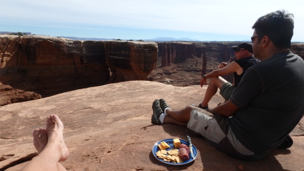 White Rim lunch