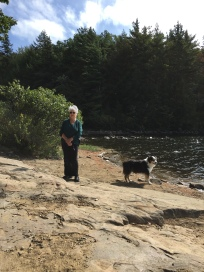 Hiking with his Grama at Jabe Pond